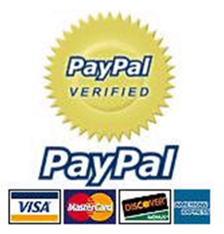 We Accept all payments through  Paypal Internet Secure Payments